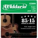 Corzi chitara acustica D'Addario EZ890