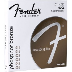 Corzi chitara acustica Fender 60CL Phosphor Bronze 011-052