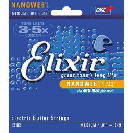 Corzi chitara electrica Elixir Nanoweb Medium 011-049